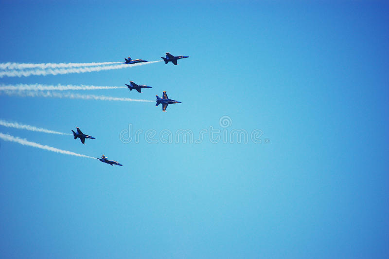 Download Six Blue Angels Airplanes Perform As A Team Editorial Photography - Image: 22308037