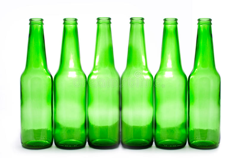 Six bottles royalty free stock images