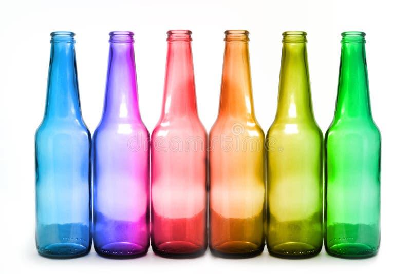 Six bottles stock photos