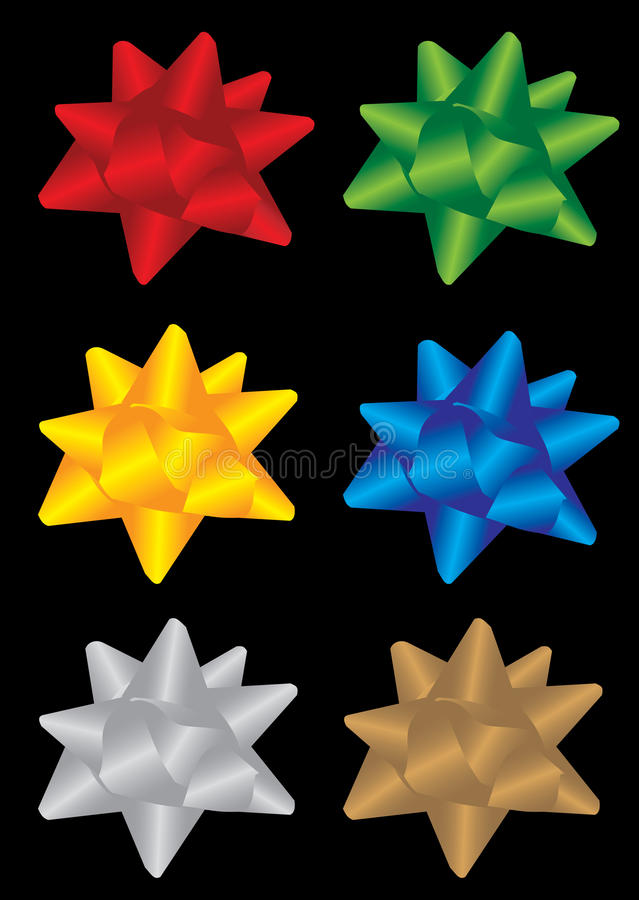 Download Six bow stock illustration. Image of ornaments, present - 11812565
