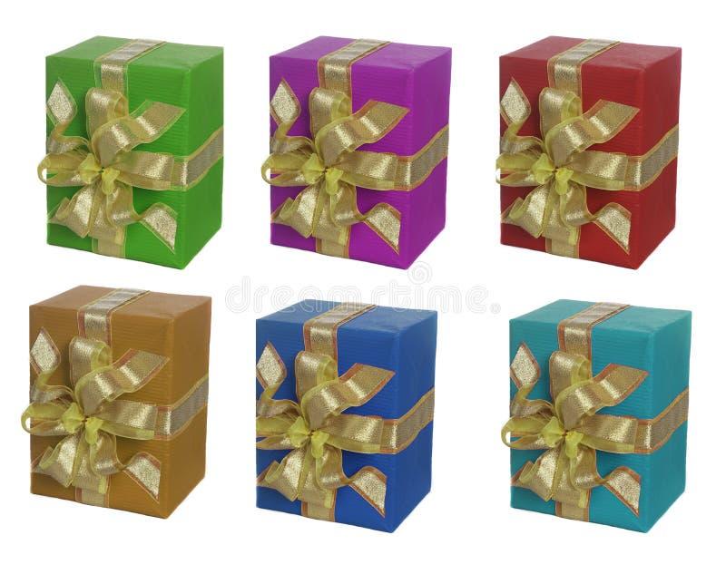 Download Six box stock photo. Image of greeting, gift, ribbon, present - 6953578