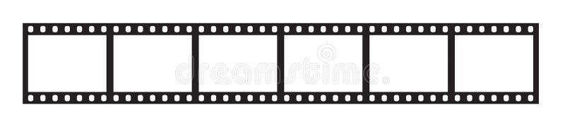 Six cadres de bande de film de 35 millimètres illustration libre de droits