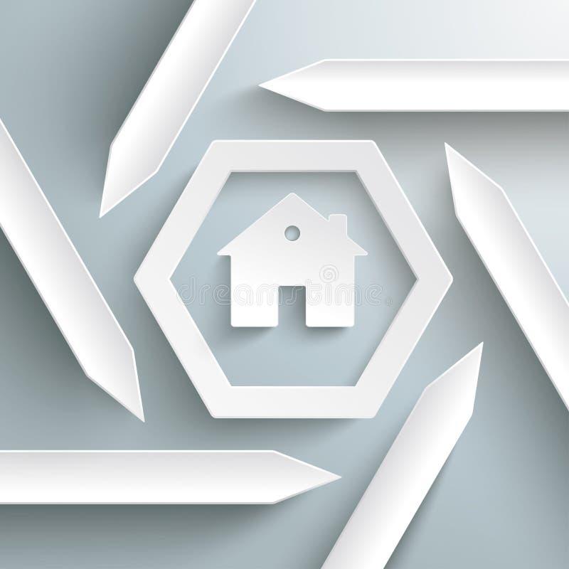 Six Chambres PiAd d'Infographic d'hexagone de flèches illustration libre de droits