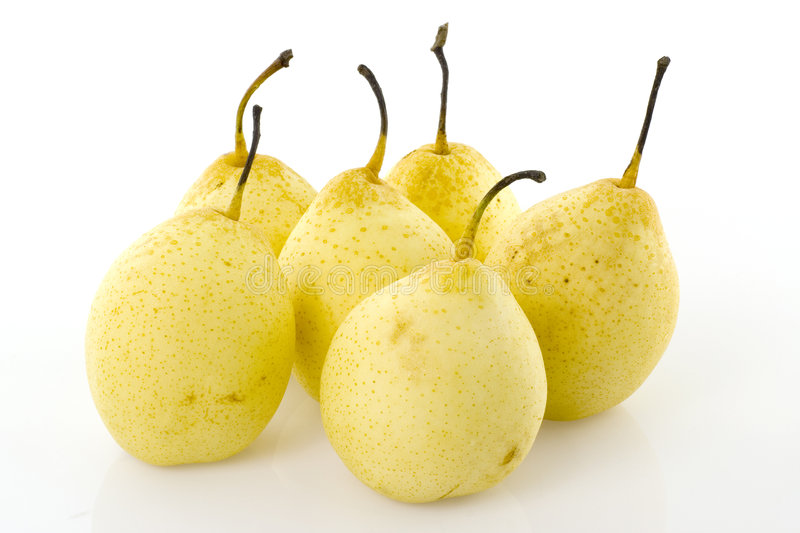 Six Chinese fragrant pears stock photography
