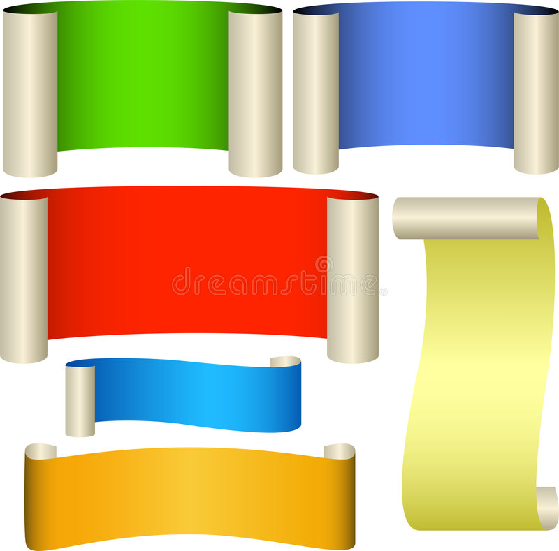 Six color banners royalty free stock photo