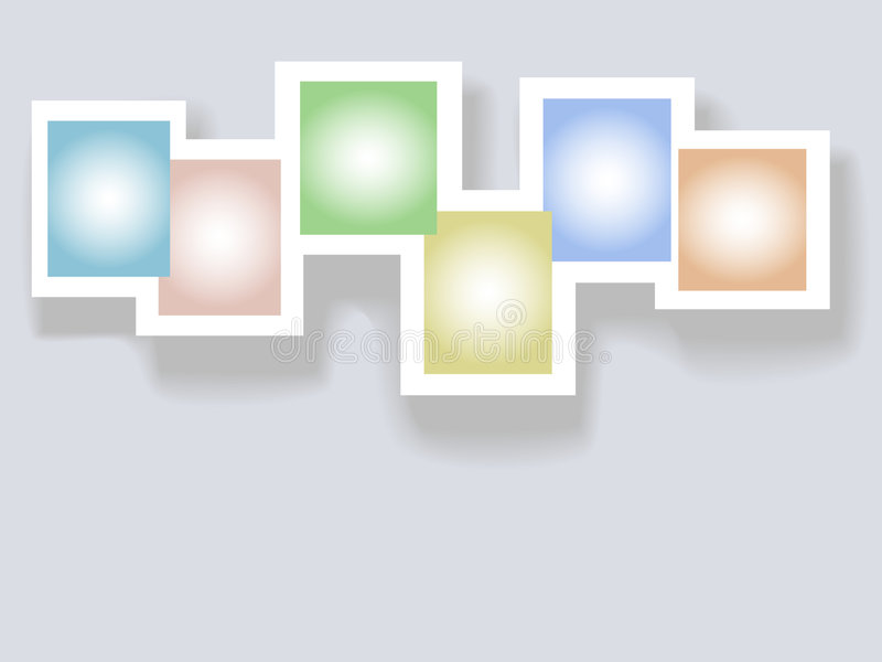 Six Complementary Colors Copyspaces In Frames Stock Vector ...