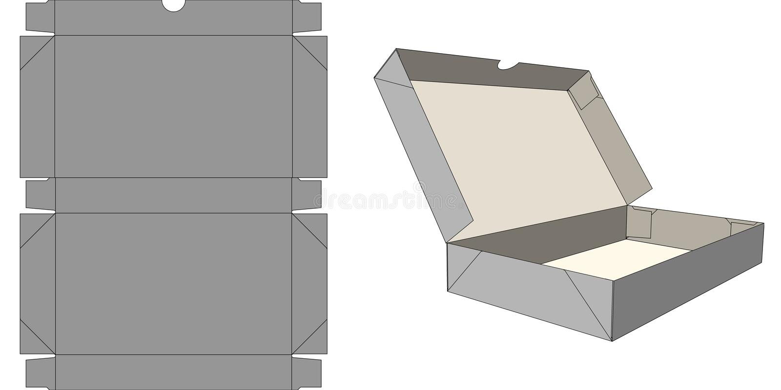 Download Six-corner carton stock illustration. Illustration of tray - 36385084