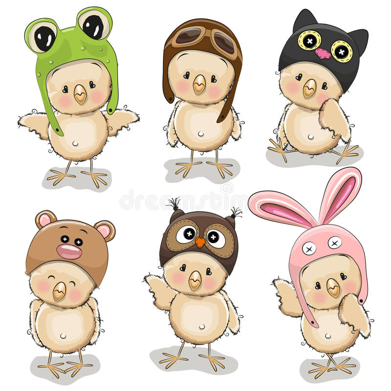 Free Six Cute Chicks Royalty Free Stock Image - 67555476