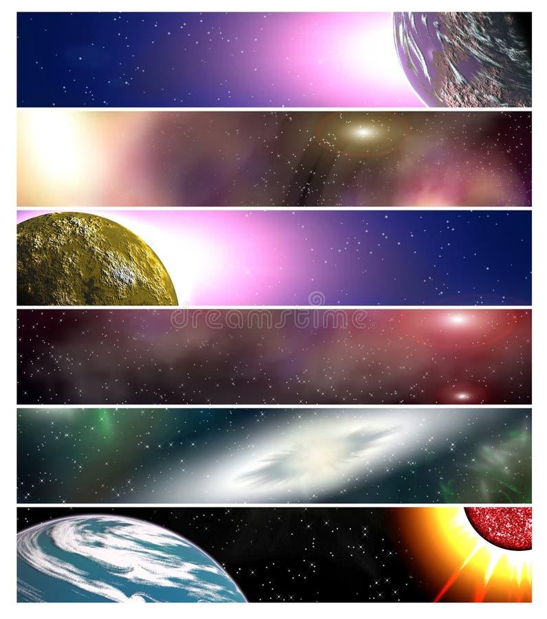 Six drapeaux pour le site Web 15 illustration stock