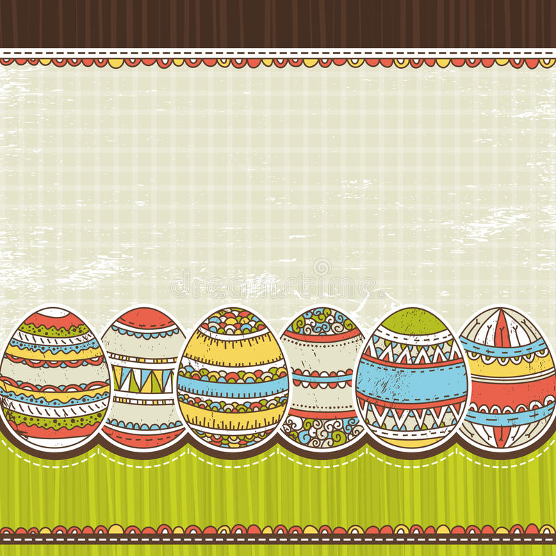 Download Six Easter Egg Over Color Background, Vector Royalty Free Stock Photo - Image: 23632375