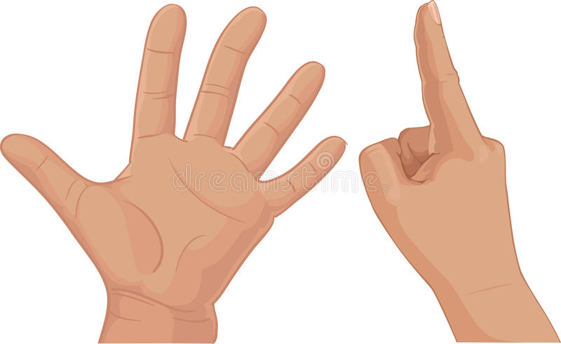 Six from fingers cipher stock images