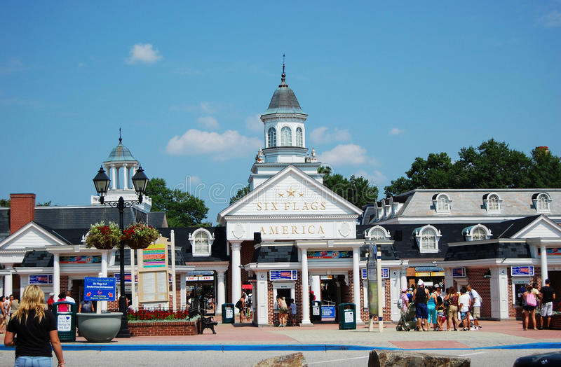 Six Flags America In Baltimore Editorial Image