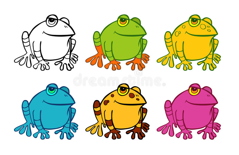 Download Six frog icons stock illustration. Illustration of jump - 7668795