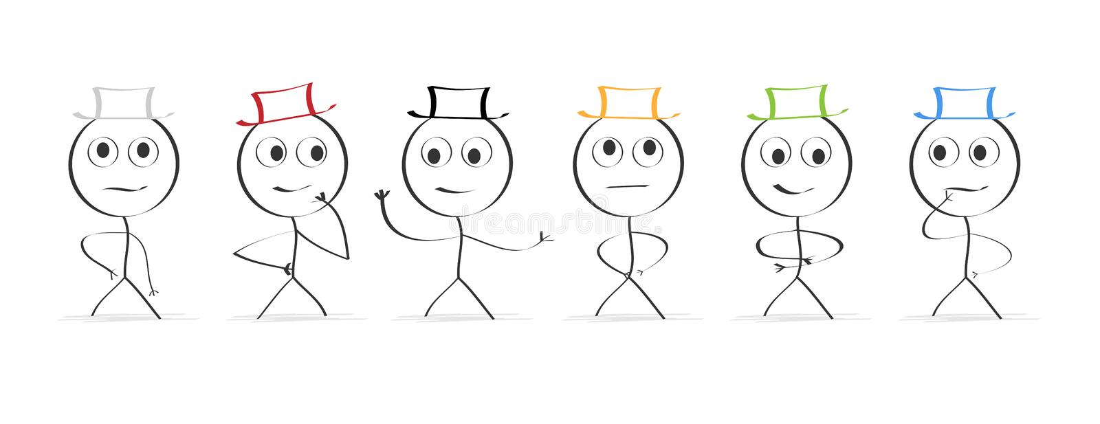 Six hats...thinking royalty free stock images