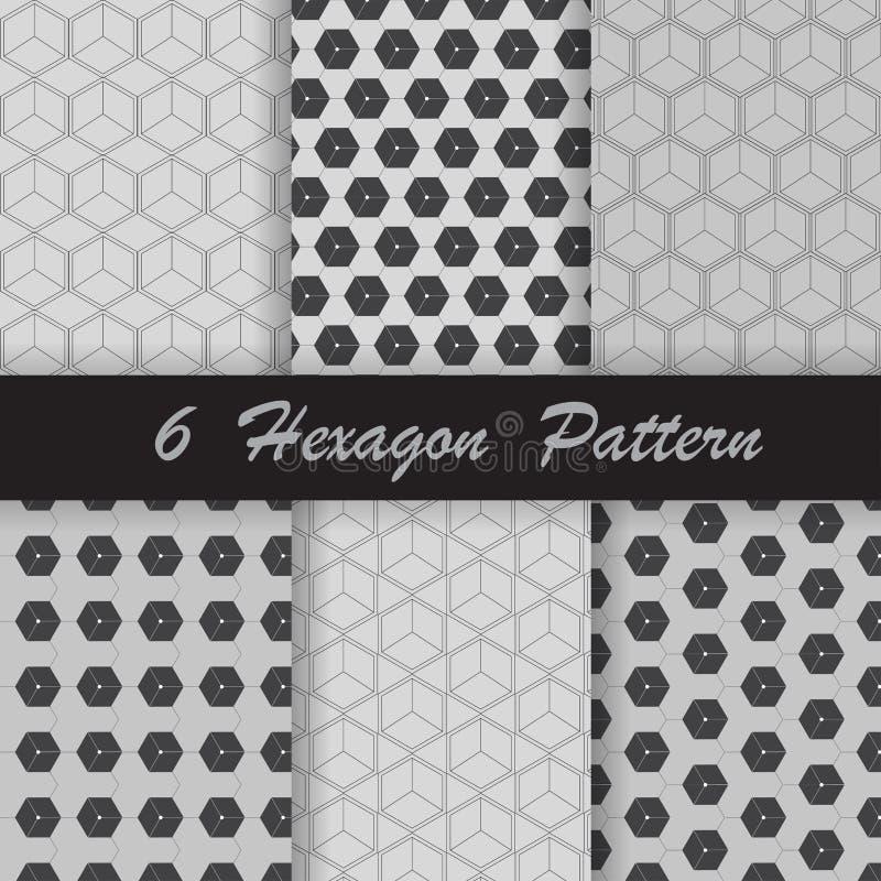 Six hexagon pattern royalty free stock image