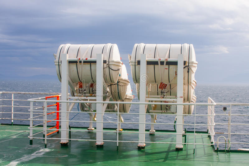 Download Life-saver Barrels On Ferry Stock Photo - Image of cruise, steel: 30049012