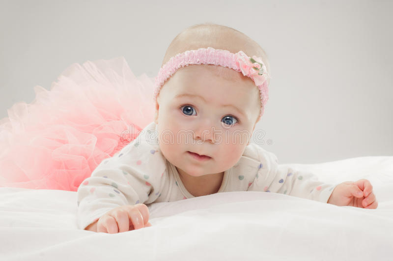 Download Six Month Old Caucasian Baby Girl Stock Image - Image: 41345857