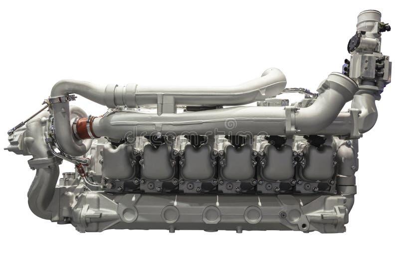 Six moteurs diesel moderne de cylindre photo stock