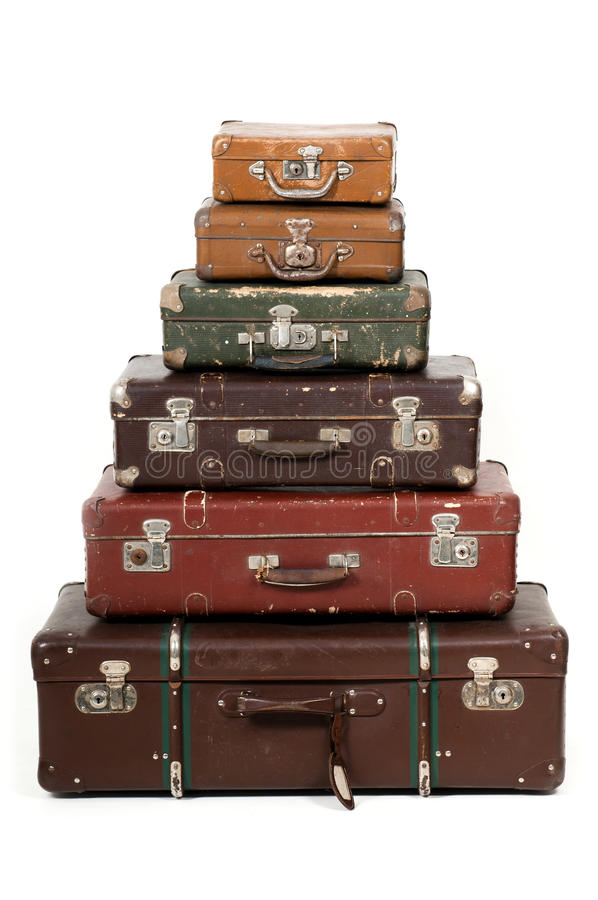 Download Six old suitcases stock image. Image of case, lodge, leather - 21672129
