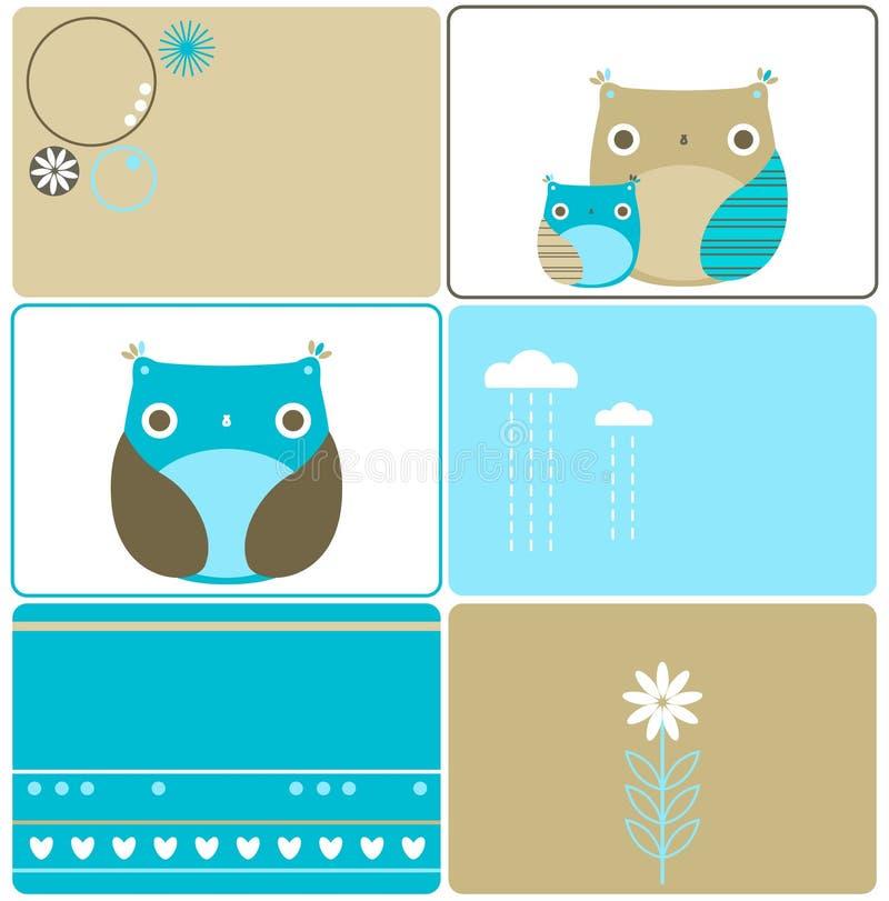 Download Six owls designs stock illustration. Illustration of hearts - 13650678