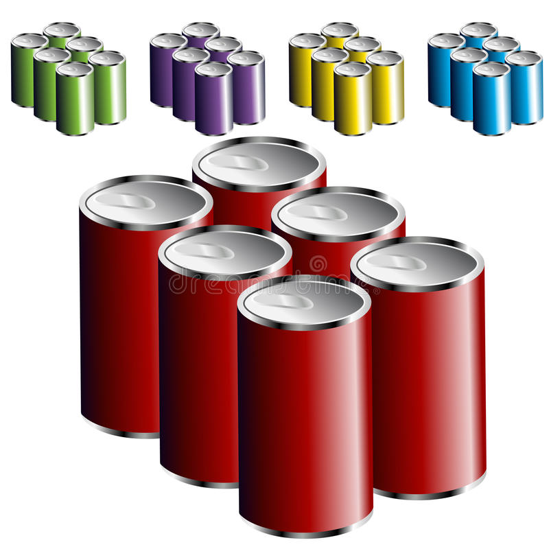 Free Six Pack Cans Royalty Free Stock Image - 16438856
