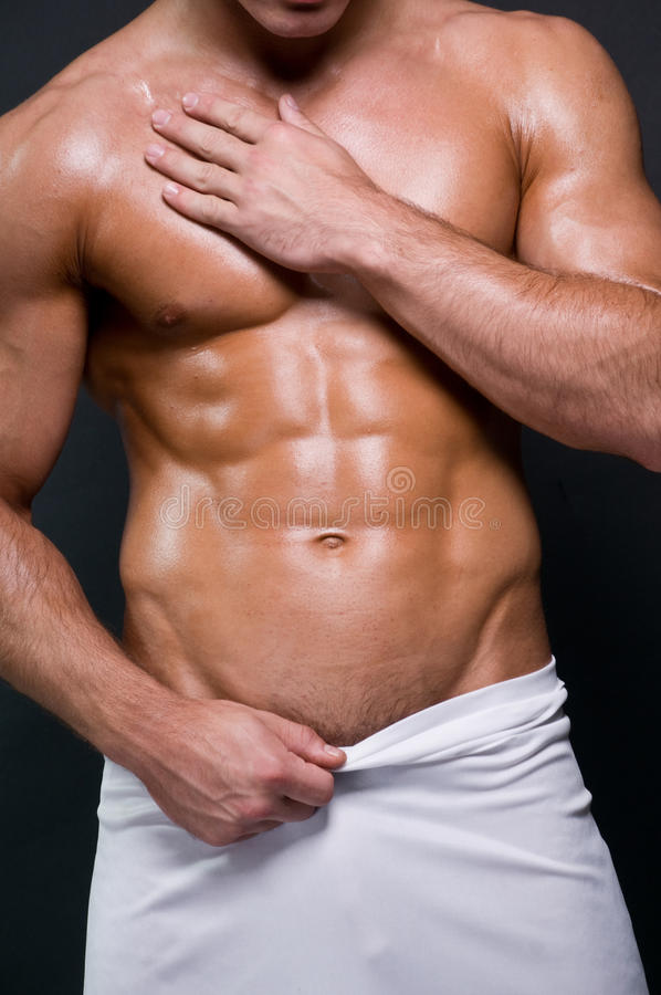 Six pack torso stock images