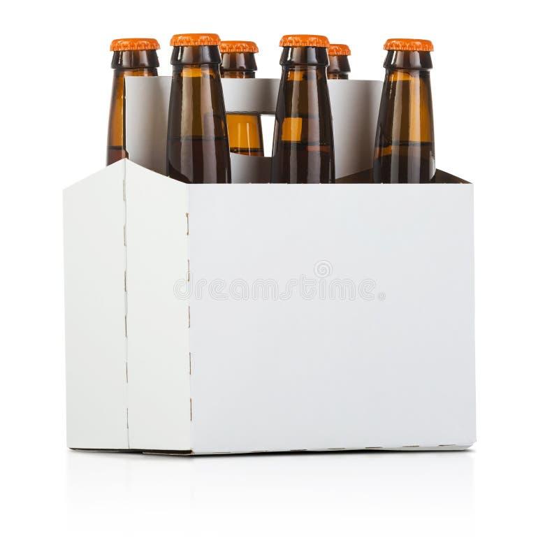 Six paquets de bière image libre de droits