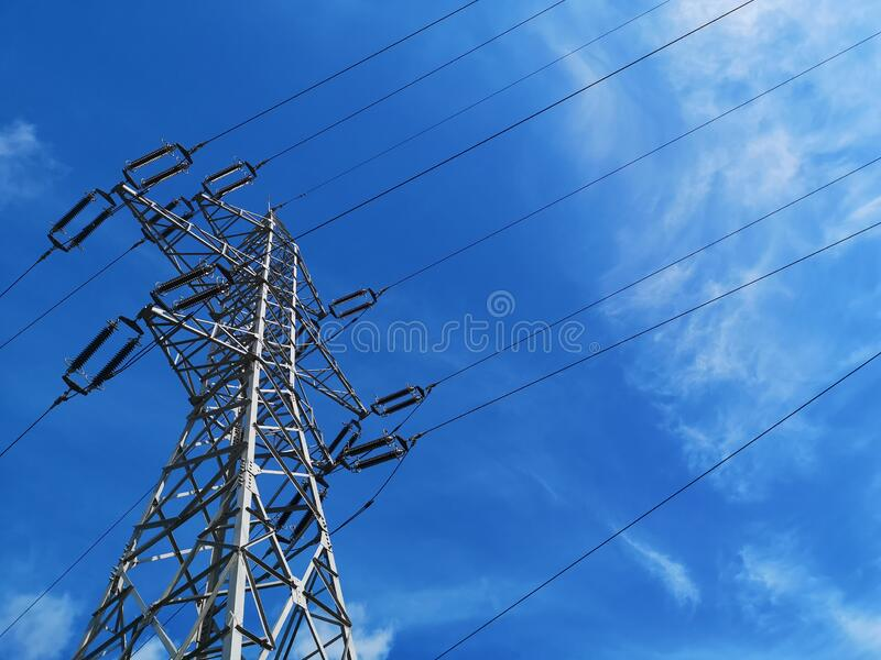 six phase power line royalty free stock images