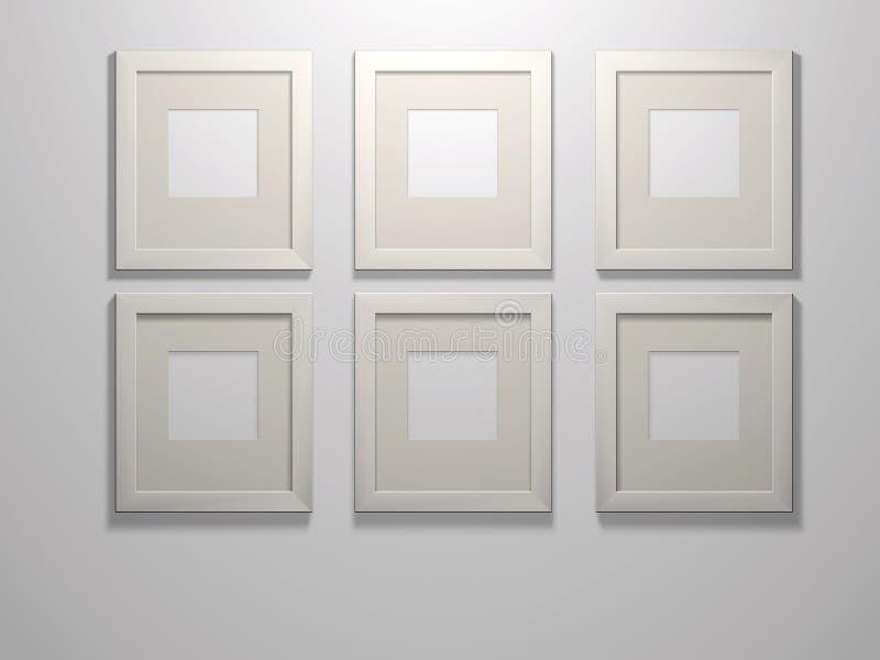 Six picture frames stock illustration. Illustration of frame - 67510172