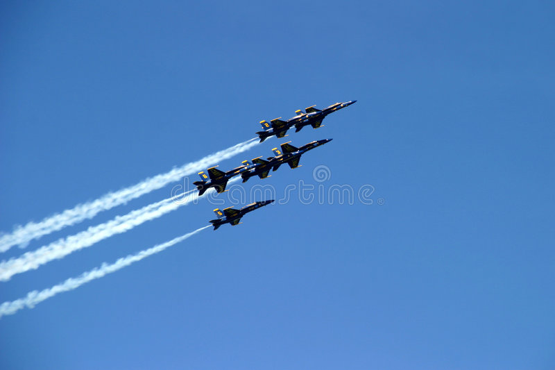 Six-Plane Formation stock images