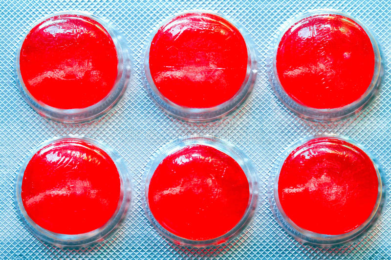 Download Six red pills stock photo. Image of vitamin, pill, foil - 15929020