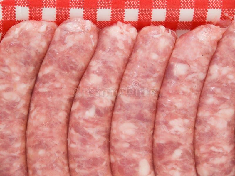 Six Sausage Background Stock Photo