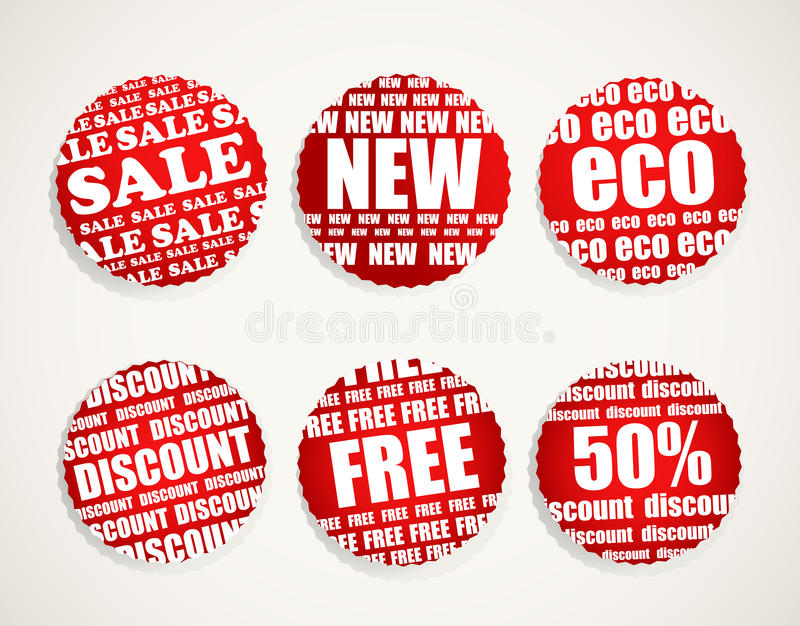 Download Six Shopping Discount Labels Stock Vector - Image: 24003366