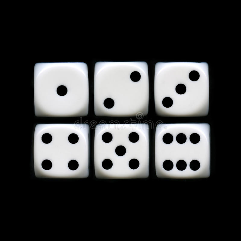 Six Sides of A Dice stock photo. Image of lucky, games