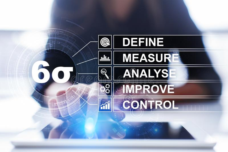 Six sigma - set of techniques and tools for process improvement. royalty free stock photo