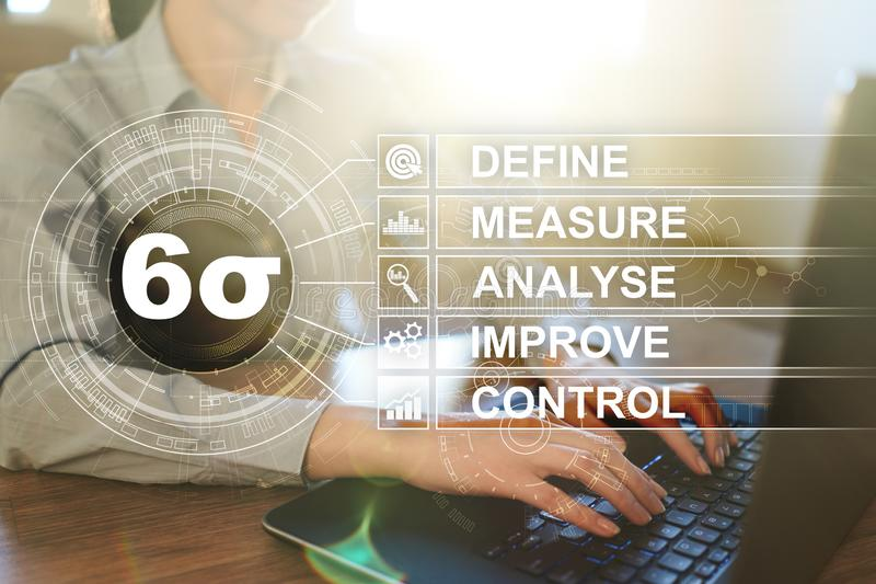 Six sigma - set of techniques and tools for process improvement. royalty free stock photography