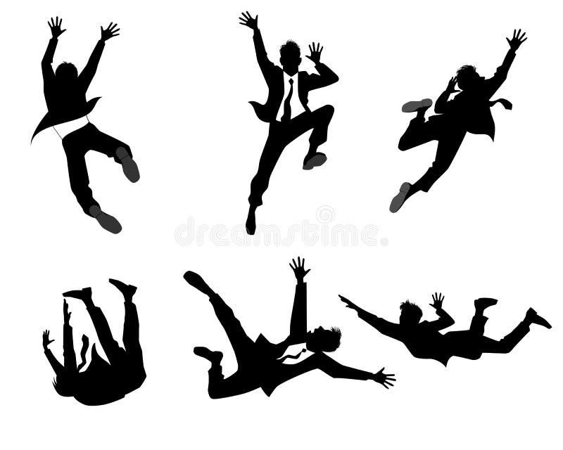 Six silhouettes d'homme d'affaires illustration de vecteur