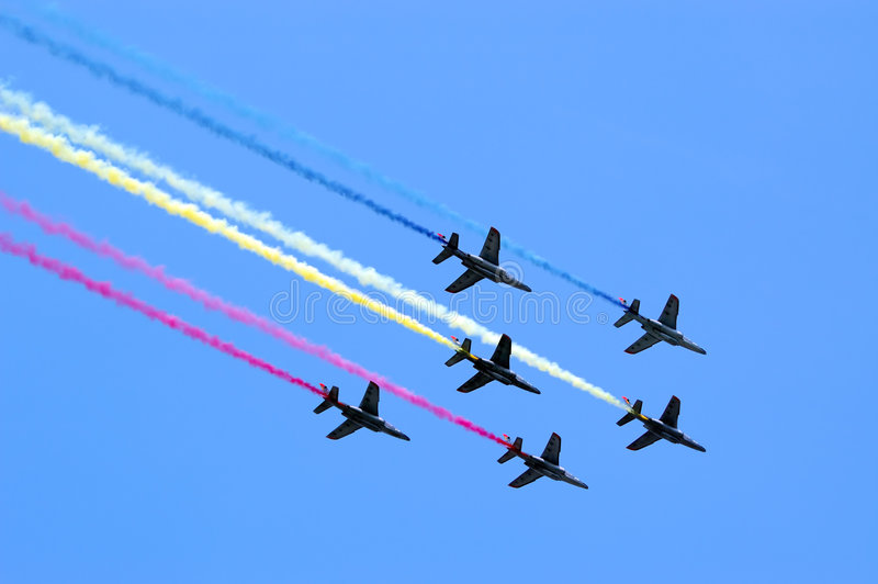 Download Six In The Sky Royalty Free Stock Image - Image: 4436876