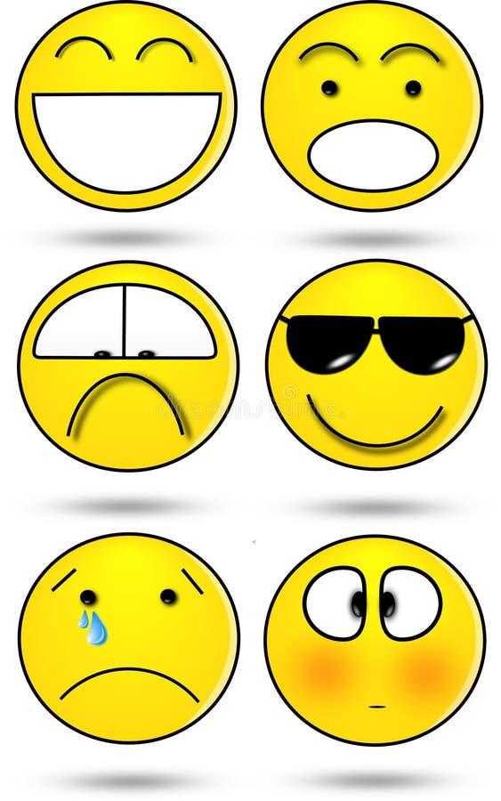 Six sourires photographie stock libre de droits
