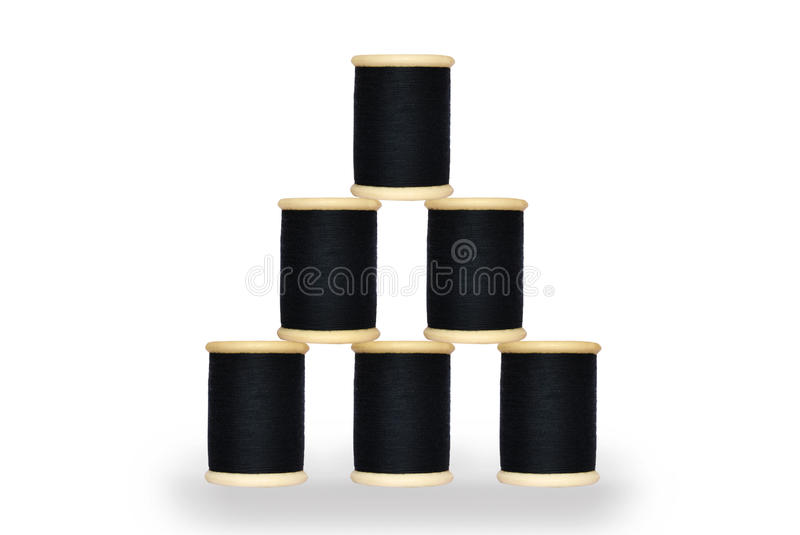 Download Six spool of thread stock illustration. Image of blue - 17597069