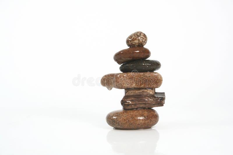 Six stones royalty free stock photo