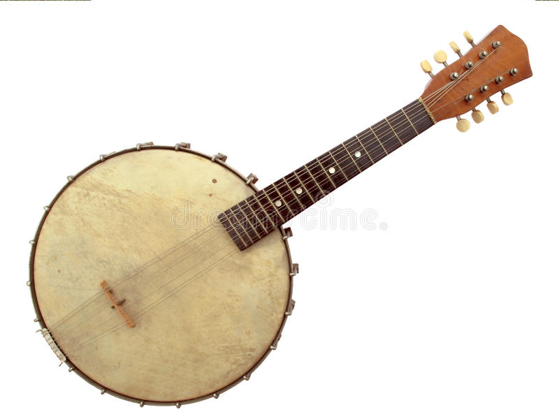 Six string banjo royalty free stock photo