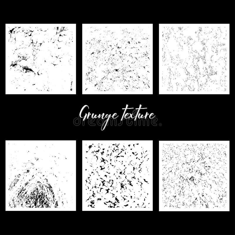 Six textures grunges illustration libre de droits