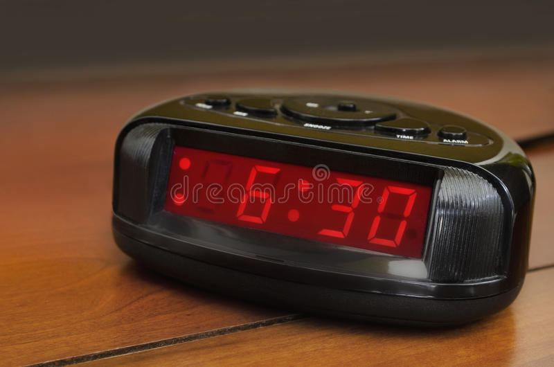 Download Six thirty alarm clock stock photo. Image of plastic - 29442206