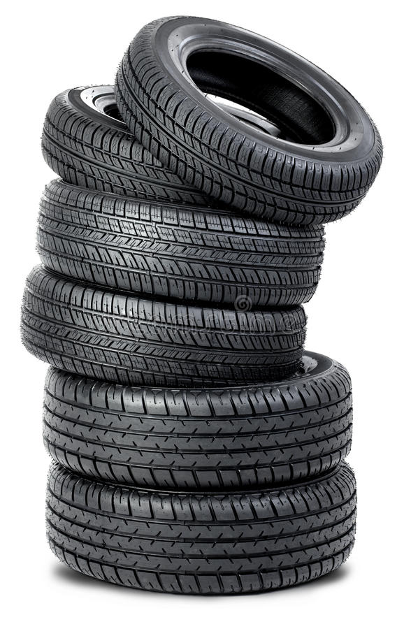 Six Tires On The White Background Stock Image - Image of ... Race Tire Stack