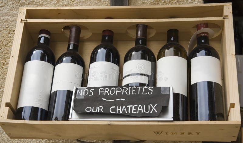 Six vins célèbres dans une ligne photo libre de droits