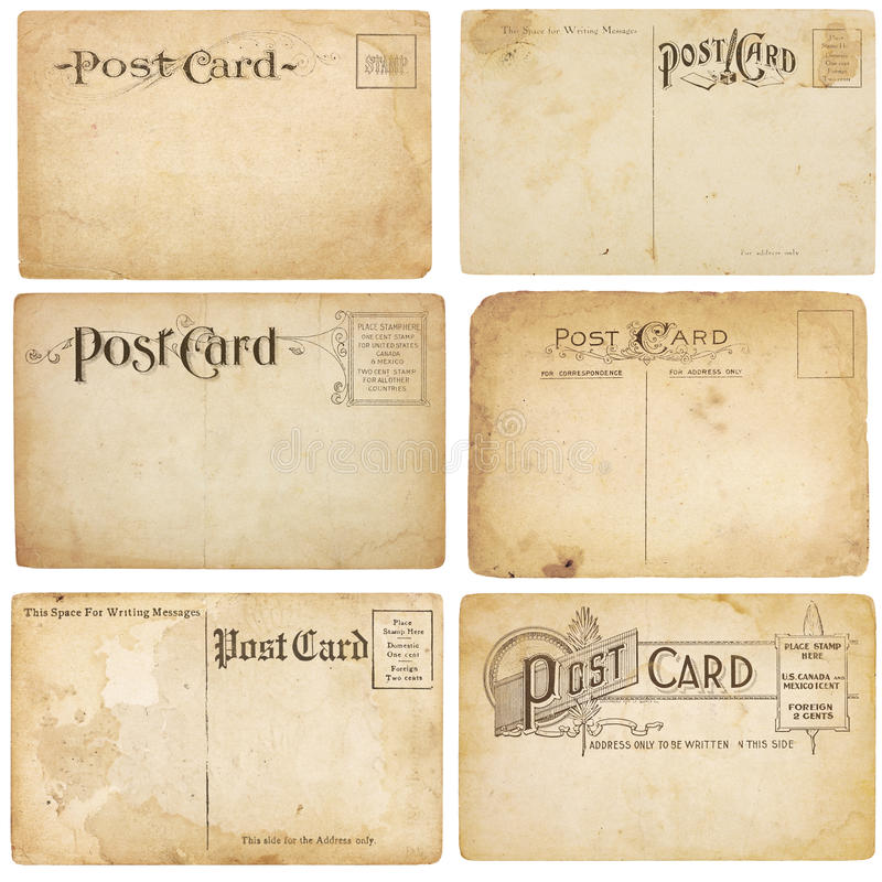 Download Six Vintage Unstamped Post Cards Stock Photography - Image: 19941632