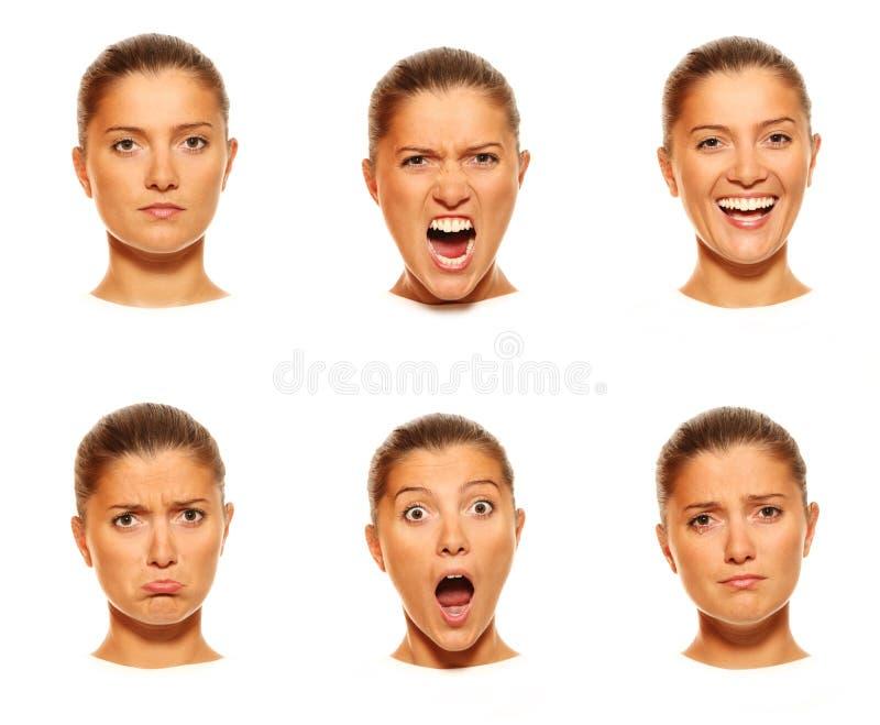 Six visages images stock
