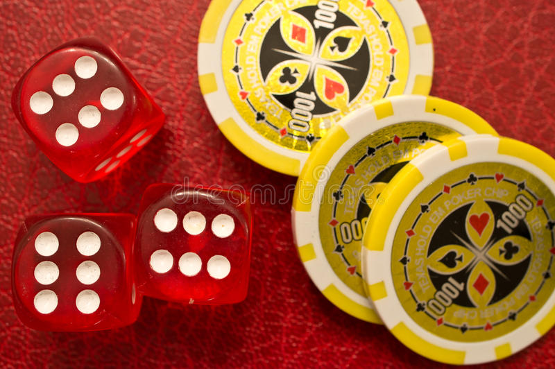 Download Sixes Dice and Poker Chips stock photo. Image of risky - 22043146