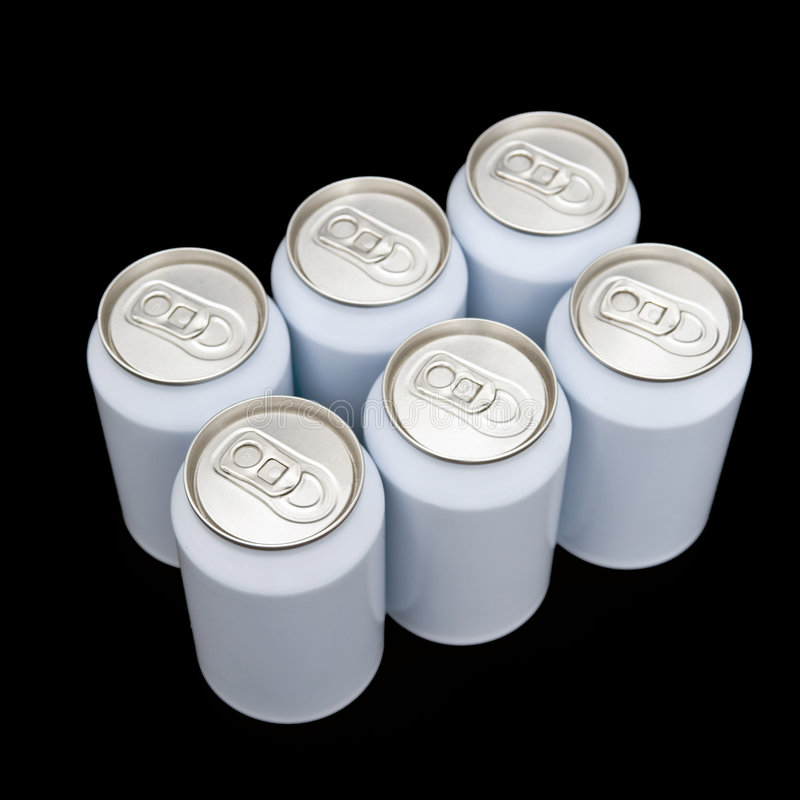 Sixpack Beverage Cans Royalty Free Stock Images